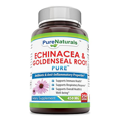 Echinacea Goldenseal Capsules - Pure Naturals Echinacea & Goldenseal Root 450 Mg Capsules- Supports Immune Health* Supports Respiratory Response* Supports Overall Health & Well-Being*