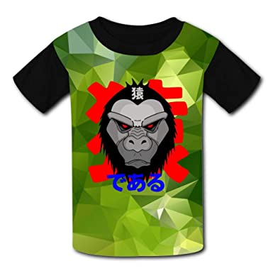 4619fbe72ff0 Amazon.com  Kids Funny Fierce Apes Graphic Summer Casual Short Sleeve Tee  Creative 3D Printed Graphic Hipster Design T Shirt  Clothing