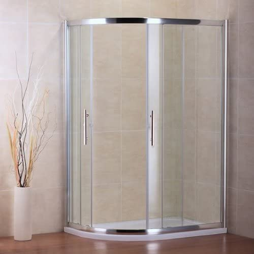 AICA cuadrante Ducha Puertas correderas, Perfil de Cristal, Cromo/Transparente, Vidrio, Chrome Profile, Clear Glass, 800x1200mm,Reversible: Amazon.es: Hogar