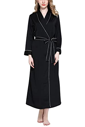bc9f216f68 YAOMEI Women s Bathrobe Dressing Gown Kimono Satin Full Length ...