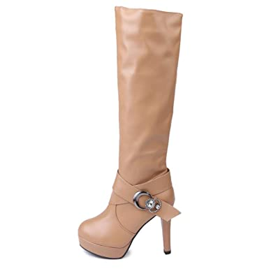 Damen Faux Sneaker Milktea Gürtel Stiefel Schuhe Schnalle qUzVGpSM