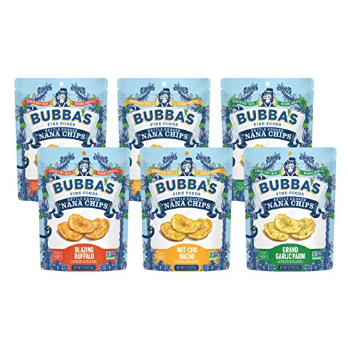 Bubba's Fine Foods Nana Chips, Variety Pack, 2.7 Ounce (Pack of 6)   Grain-Free, Gluten-Free, Vegan, Paleo, Dairy Free and Certified Non-GMO]()