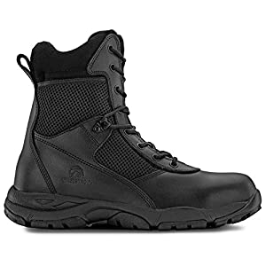 Maelstrom LANDSHIP 2.0 8'' Men's Black Tactical Boots With Zipper – Military, Work & Tactical Boots – Athletic, Breathable, Durable, Comfortable & Lightweight Boots For Men, Black, Size 8M