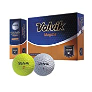 Volvik Magma 3 Piece Non USGA Conforming Super Distance Golf Balls - White