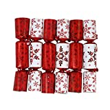Iconikal 8.75-inch Christmas - Holiday Crackers 6-Pack (Red)
