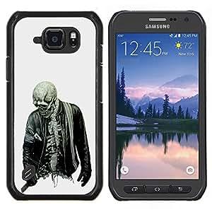 TECHCASE---Cubierta de la caja de protección para la piel dura ** Samsung Galaxy S6 Active G890A ** --Biker fresco del cráneo Esqueleto Zombie Roca