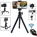 Phone Tripod Adjustable Flexible Portable Universal for iPhones Android and Various Phones Apply to Travel Taking Photos Photography Livestreaming vlogging Videos Calls Sturdy and Very Easy Set up
