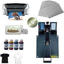 110V 15x15inch Flat Heat press T-shirt Transfer Kit Printer CISS Ink Small Business Start Package Low Cost