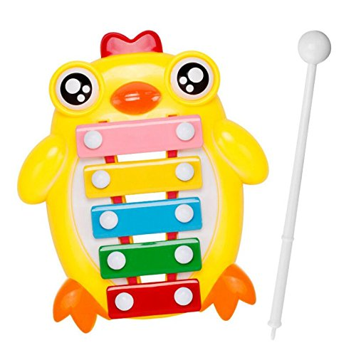 Polymer Musical Toys Chick Tone Piano Children's Percussion Infant Music Piano Musical Toys(Yellow) by Polymer