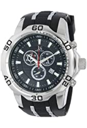 Joshua & Sons Men's JS50SSB Swiss Chronograph Black Silicone Strap Watch