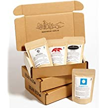 Bean Box Gourmet Coffee Sampler - 3-Month Gift Subscription - (fresh roasted coffee gift box, specialty whole bean, 4 roasts every month, gifts for mom, gifts for dad)