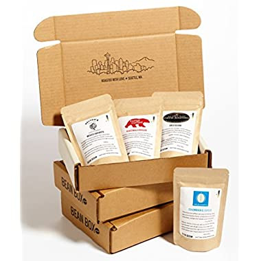 Bean Box Gourmet Coffee Sampler - 3-Month Gift Subscription - (fresh roasted coffee gift box, specialty whole bean, 4 roasts every month)
