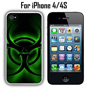 Bio Glow Radiation Custom Case/ Cover/Skin *NEW* Case for Apple iPhone 4/4S - White - Rubber Case (Ships from CA) Custom Protective Case , Design Case-ATT Verizon T-mobile Sprint ,Friendly Packaging - Slim Case