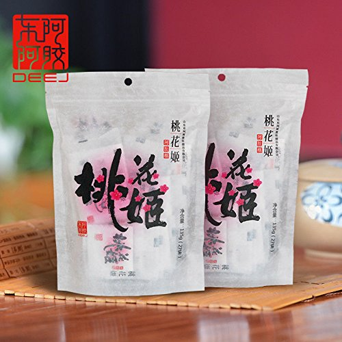 China food co. LTD. DongEEJiao Donkey Hide Gelatin Nourishing Blood 135g2bags 东阿阿胶 桃花姬阿胶糕 固元膏 包邮 by China food co. LTD.