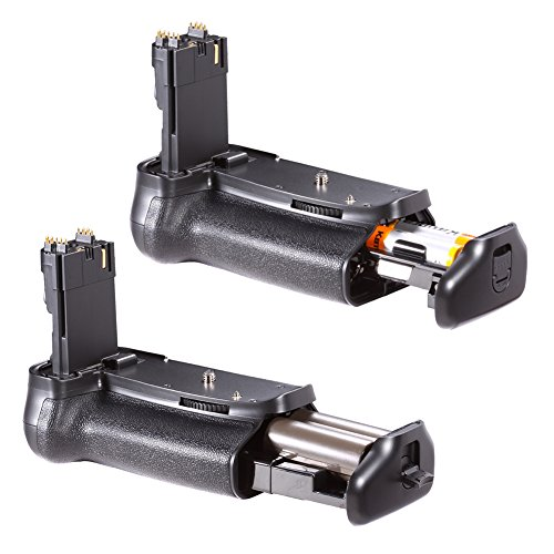 Neewer Professional Vertical Battery Grip (Replacement for Canon BG-E9) for Canon 60D Digital SLR Camera, Compatible with 1 or 2 pieces LP-E6 or 6 pieces AA batteries