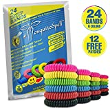 SelpHbalance Mosquito Repellent Bracelet for Kids, Adults & Pets - Travel Insect Repellent Design for Maximum Protection Against Bugs, Pests, Waterproof - 24 Pack with Free Bonus 12 Patches