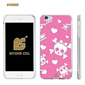 Iphone 6 Plus / Iphone 6 + /Iphone 6 plus (5.5) (T-mobile,AT&T,Verizon,Sprint,International)Beyond Cell ?Aquaflex? Series Premium Protection [Ultra Slim] Design Transparent Clear Hard Hybrid Case With Protective Bumper Around - Pink Cutie Skull Design - Retail Packaging
