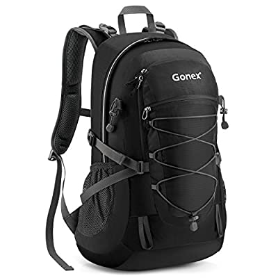 Gonex Updated 35L Hiking Backpack, Water Repellent Camping Outdoor Trekking Daypack, Backpack Cover Included
