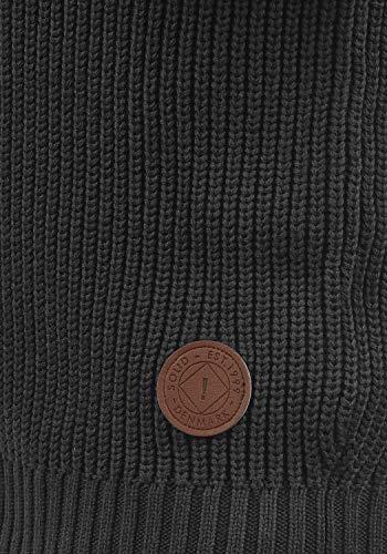 Dark Melange solid Homme Grey Col Pour Pull Camionneur Pull Grosse 8288 Coton Avec À Xenox En 100 Droit over Maille qPTnaUwqSW