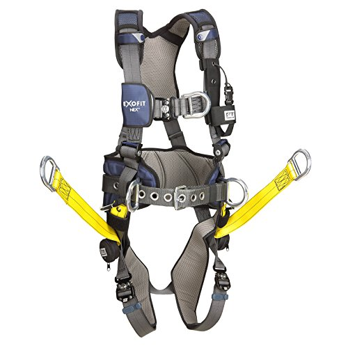 3M DBI-SALA 1113457 Exofit Nex Aluminum Back/Front D-Ring, Wind Energy Belt with Pad/Side D-Rings, Hip Climb Assist Straps...