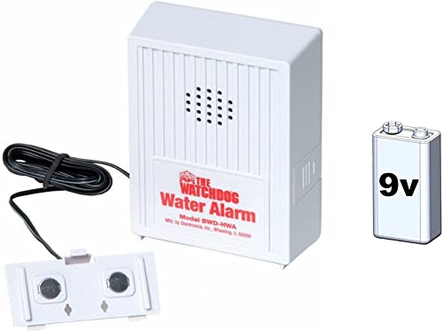 Glentronics WD-HWA Basement Watchdog Water Sensor and Alarm with 9 Volt Battery