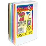 """Brand New Sticky Back Foam Sheets Value Pack 6""""""""X9"""""""" 40/Pkg-Assorted Colors Brand New"""