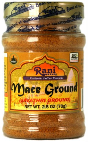 - Rani Mace Ground (Javathri) Powder, Spice 2.5oz (70g) PET Jar ~ All Natural | Gluten Free Ingredients | NON-GMO ~ Vegan