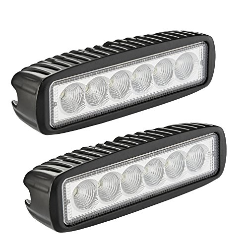 UPC 740690759894, LED Light Bar, Northpole Light 2x 18W Flood Work Light Strip, Jeep Off-road Light Bar, Driving Fog Light IP67 Waterproof for Off-road, Truck, Car, ATV, SUV, Jeep