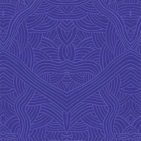 (Australian Aboriginal fabric, Untitled Blue by Nambooka)