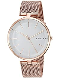Women's Quartz Stainless Steel Casual Watch, Color Rose Gold-Toned (Model: SKW2709)