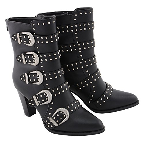 Milwaukee up PerformanceWomen's Black Size Boot Bling Buckle with Studded 6 4rUw4Aq