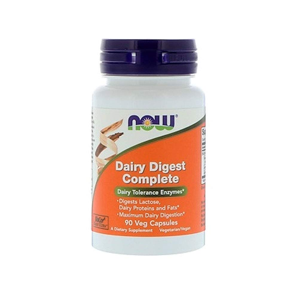 Now Supplements, Dairy Digest Complete, 90 Veg Capsules by NOW Foods