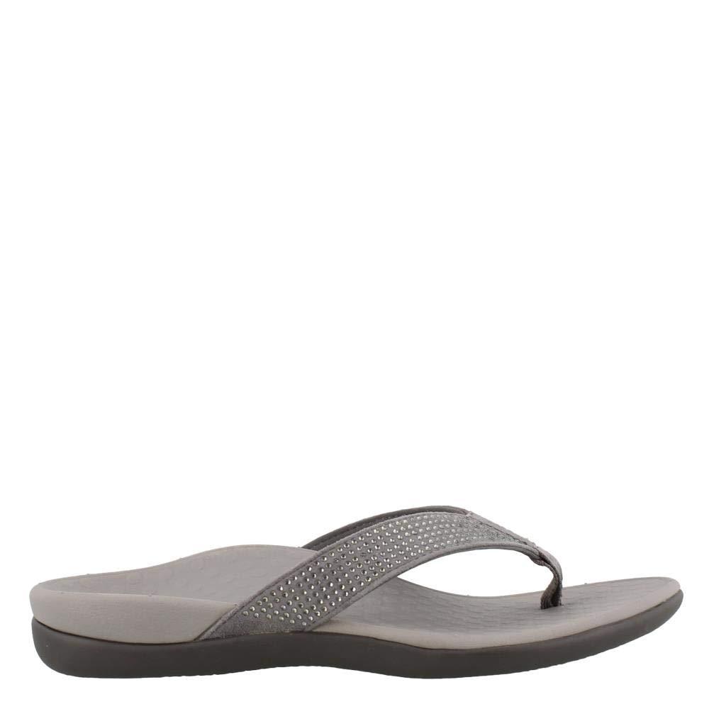 Pewter Women's Vionic, Tide Rhinestones Thong Sandals