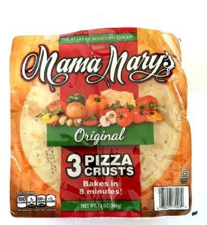Mama Mary's, Prepared Pizza Crusts, Original 7 Crusts (3 Crusts), 12oz Bag (Pack of 3) (Choose Types Below) (Original 7 Crusts (3 Pack)) by Mama Mary's