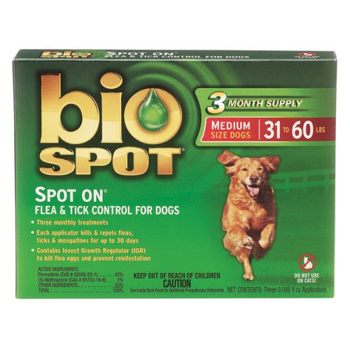 Bio Spot Spot On for Dogs 31-60 lbs., 3 Months Supply