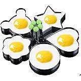 5PCS Stainless Steel Fried Egg Mold Egg Ring Egg Shaper Pancake Mold Kitchen Tool Pancake Rings