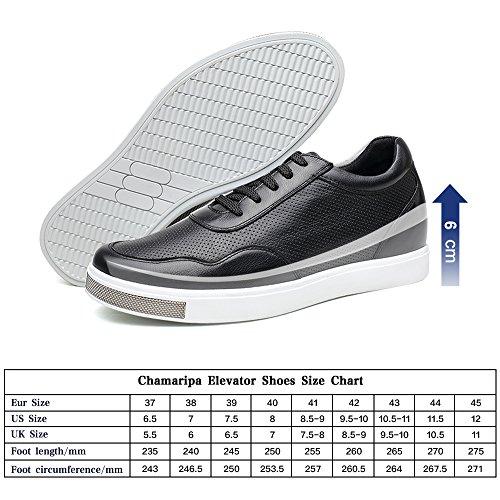 CHAMARIPA Herren Lauflernschuhe Sneakers, Schwarz - Schwarz - Größe: 38,5 EU D