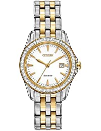 Women's Eco-Drive Silhouette Crystal watch with Date, EW1908-59A