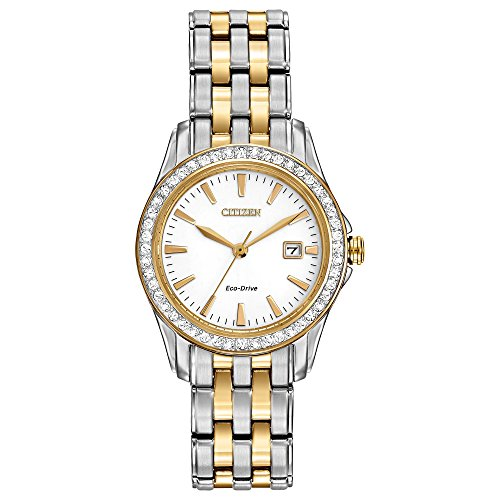 Citizen Women's Eco-Drive Silhouette Crystal watch with Date, EW1908-59A ()