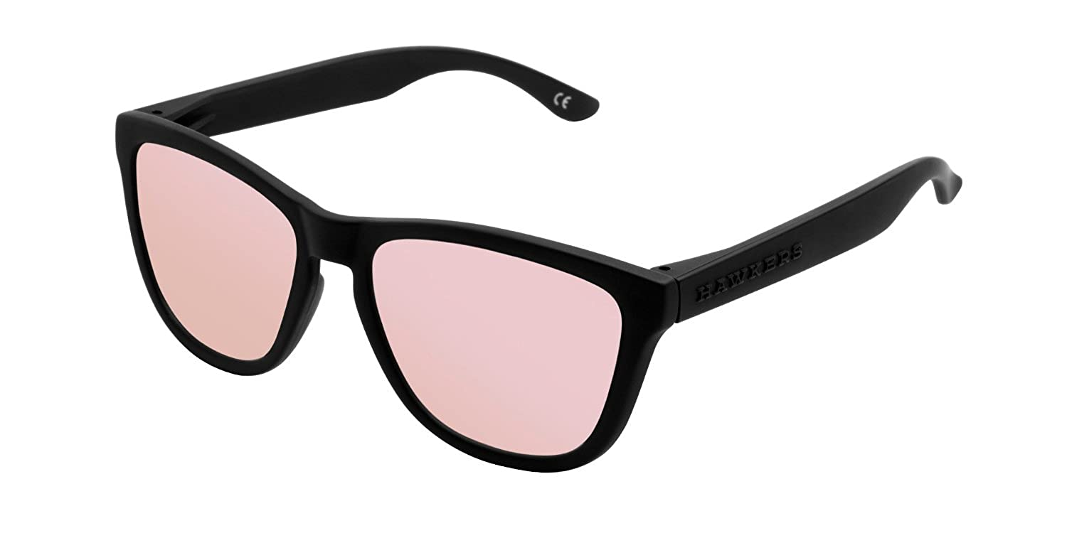 Hawkers Unisex Adults' OTR35 Sunglasses, Black (Negro/Rose Gold), 60
