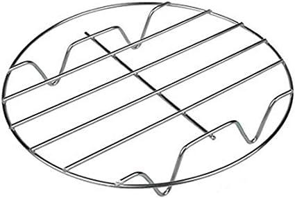 con Supporto per pentole da Cucina per Cottura a Vapore Griglia di Cottura Rotonda in Acciaio Inox 304 FiedFikt