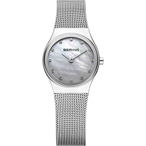 BERING Time 12924-000 Womens Classic Collection Watch with Mesh Band and scratch resistant sapphire crystal. Designed in Denmark.