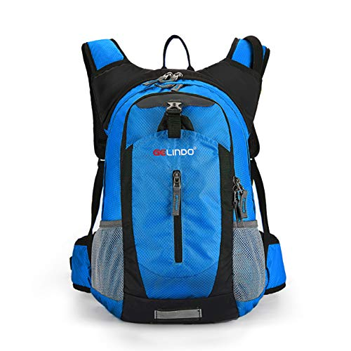 Gelindo Insulated Hydration Backpack Pack with 2.5L BPA Free Bladder - Keeps Liquid Cool up to 4 Hours, Water Backpack for Hiking Camping Cycling Running, 18L]()