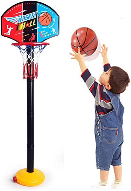 Kids Easy Score Basketball Stand Adjustable Height Basketball Hoop Exercise Toy