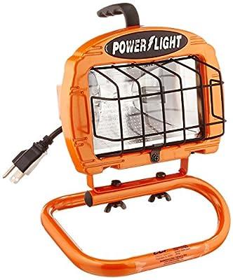 Designers Edge L860 Portable Halogen Work Light, Orange, 250-Watt