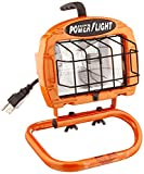 Designers Edge L860 Portable Halogen Work Light, Orange, 250-Watt