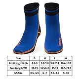 COPOZZ Diving Socks 3mm Neoprene Beach Water Socks, Surfing Thermal Flexible Kayaking Anti Slip Wetsuit Boots for Rafting Snorkeling Swim Sailing for Youth Men Women
