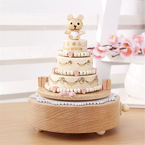 Celsy Wind Up Musical Box as Birthday Gift and Christmas Gift for Lover Friends and Children (Happy Birthday)