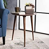 Finnian Walnut Wood End Table