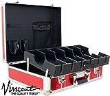 Vincent Master Case Travel Stylist Barber Case, Large, Red